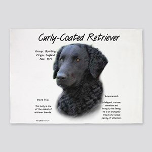 Curly-Coated Retriever 5'x7'Area Rug