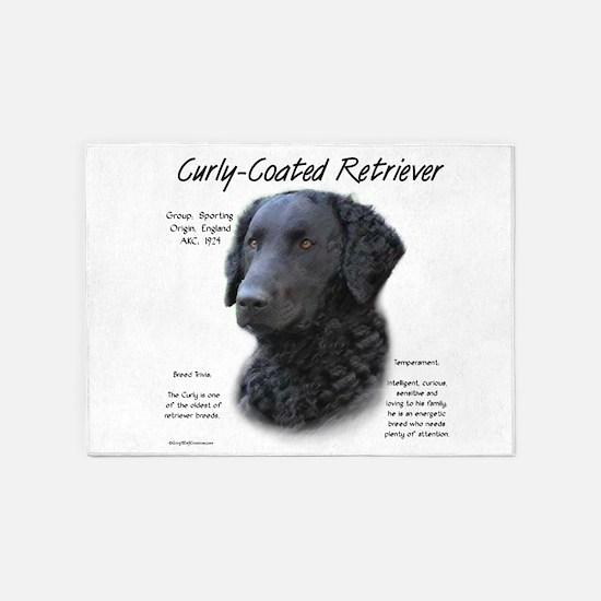 Curly-Coated Retriever 5'x7'Area Rug