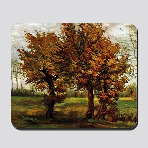 Van Gogh Autumn Landscape with Four Tree Mousepad