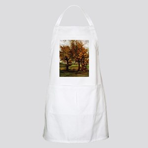 Van Gogh Autumn Landscape with Four Trees Apron
