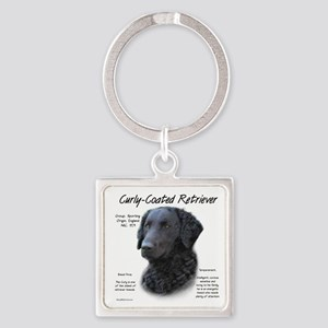 Curly-Coated Retriever Square Keychain