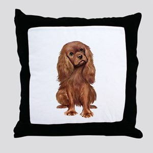 Ruby Cavalier 1 Throw Pillow