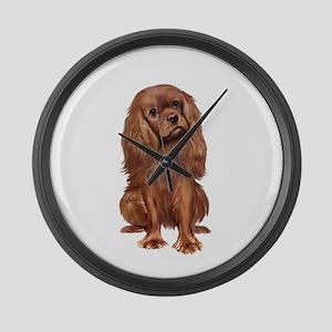 Ruby Cavalier 1 Large Wall Clock