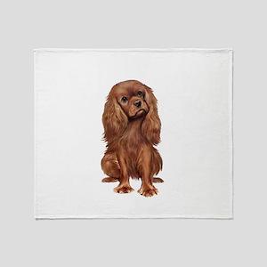 Ruby Cavalier 1 Throw Blanket