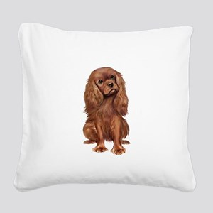 Ruby Cavalier 1 Square Canvas Pillow