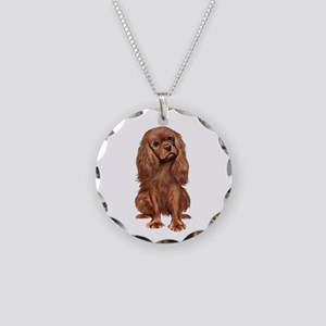 Ruby Cavalier 1 Necklace Circle Charm