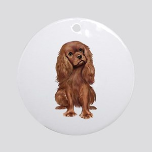 Ruby Cavalier 1 Ornament (Round)