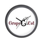 Grape Cat Wall Clock