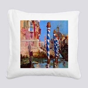 Manet Grand Canal in Venice Square Canvas Pillow