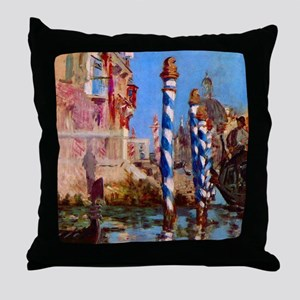 Manet Grand Canal in Venice Throw Pillow