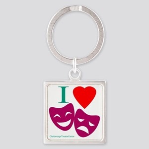 I Love Theatre Square Keychain