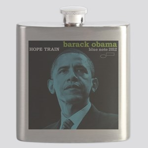 Barack Obama HOPE TRAIN Jazz Album Cover Flask