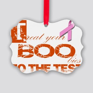 Halloween and Breast Cancer Aware Picture Ornament
