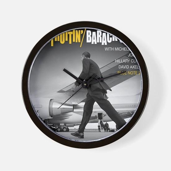 Barack Obama COOL STRUTTIN' Jazz Album  Wall Clock