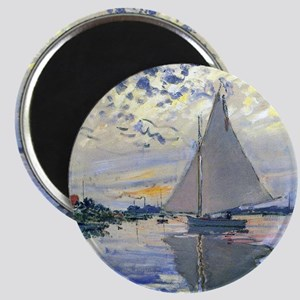 Claude Monet Sailboat Magnet