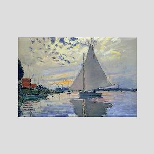 Claude Monet Sailboat Rectangle Magnet