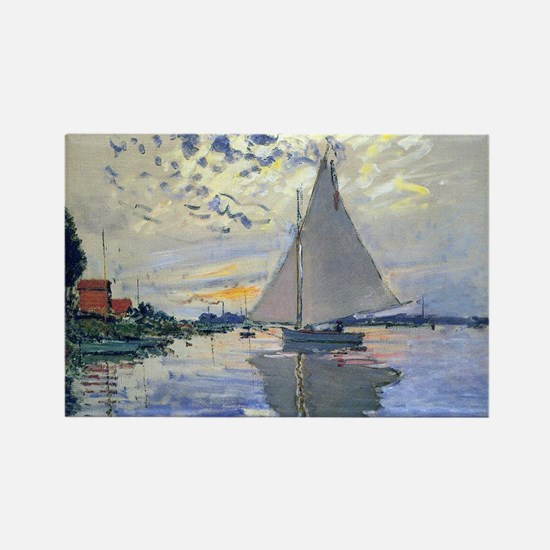 Claude Monet Sailboat Rectangle Magnet