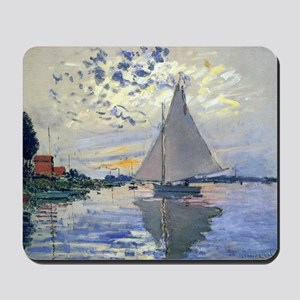 Claude Monet Sailboat Mousepad