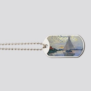 Claude Monet Sailboat Dog Tags