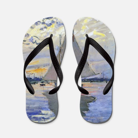 Claude Monet Sailboat Flip Flops