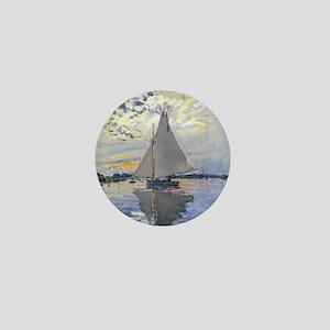 Claude Monet Sailboat Mini Button