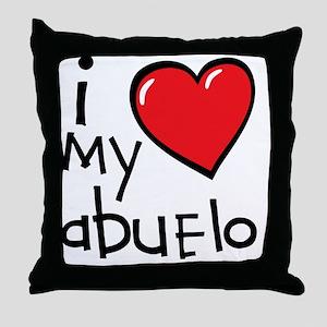 I Love My Abuelo Throw Pillow