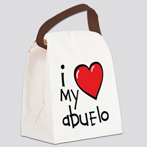 I Love My Abuelo Canvas Lunch Bag