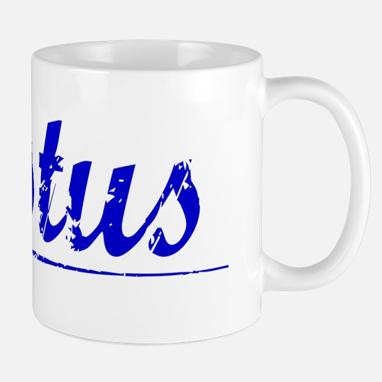 Justus, Blue, Aged Mug