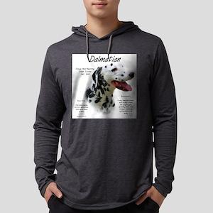 Dalmatian (black spots) Mens Hooded Shirt