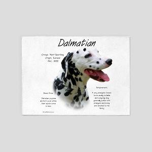 Dalmatian (black spots) 5'x7'Area Rug