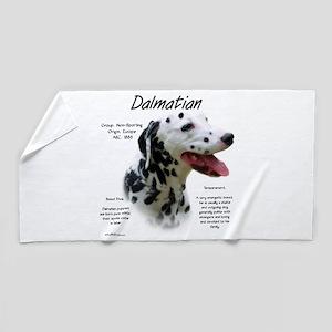 Dalmatian (black spots) Beach Towel