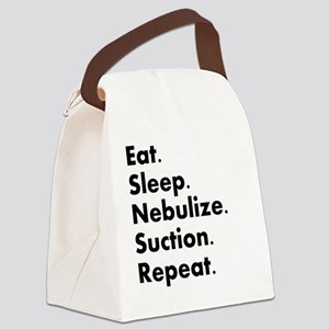 RT eat sleep nebulize Canvas Lunch Bag