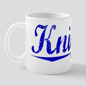 Knights, Blue, Aged Mug