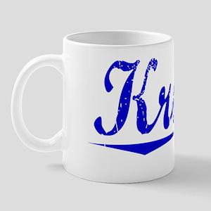 Kroger, Blue, Aged Mug