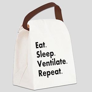 RT eat sleep VENTILATE Canvas Lunch Bag