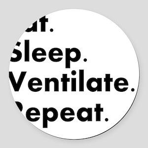 RT eat sleep VENTILATE Round Car Magnet