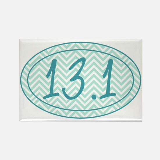 13.1 Blue Chevron Rectangle Magnet