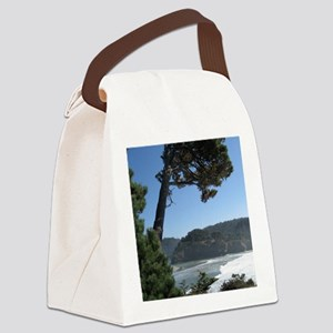 Ocean view from a cliff in Mendoc Canvas Lunch Bag