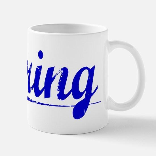 Kring, Blue, Aged Mug