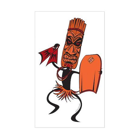 Bodyboarding Tiki Warrior Sticker