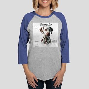 Dalmatian (liver spots) Womens Baseball Tee