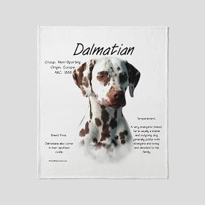 Dalmatian (liver spots) Throw Blanket