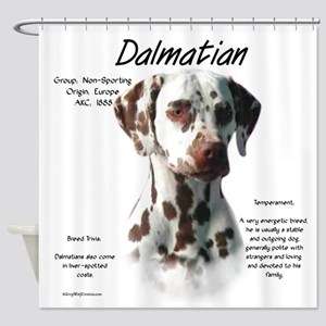 Dalmatian (liver spots) Shower Curtain