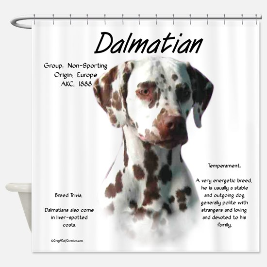 Dalmatian (liver spots) Shower Curtain