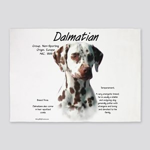 Dalmatian (liver spots) 5'x7'Area Rug