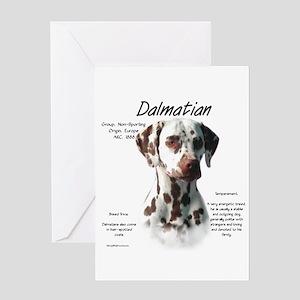 Dalmatian (liver spots) Greeting Card
