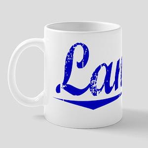 Landry, Blue, Aged Mug