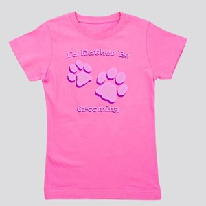 Id Rather Be Grooming Girl's Tee