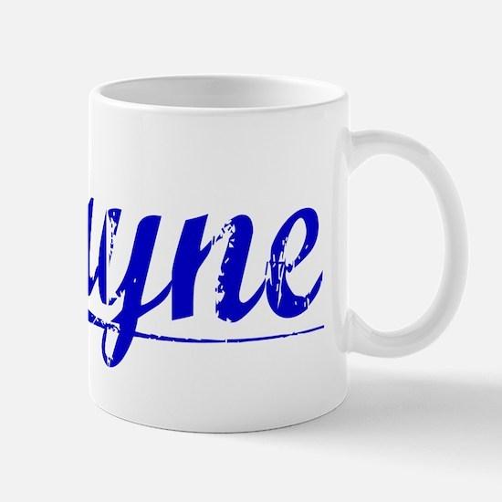 Layne, Blue, Aged Mug