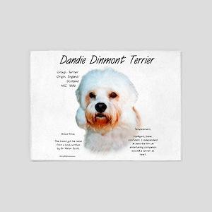 Dandie Dinmont 5'x7'Area Rug